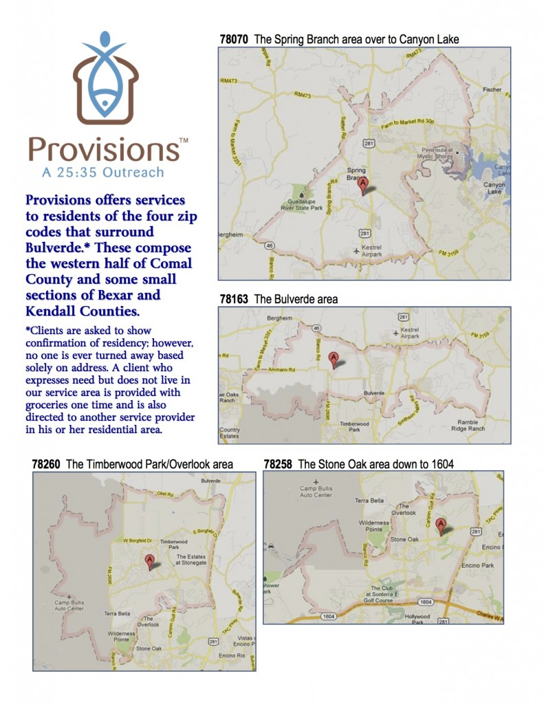Provisions service area page